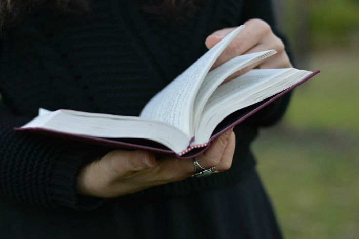 boho rings with a book