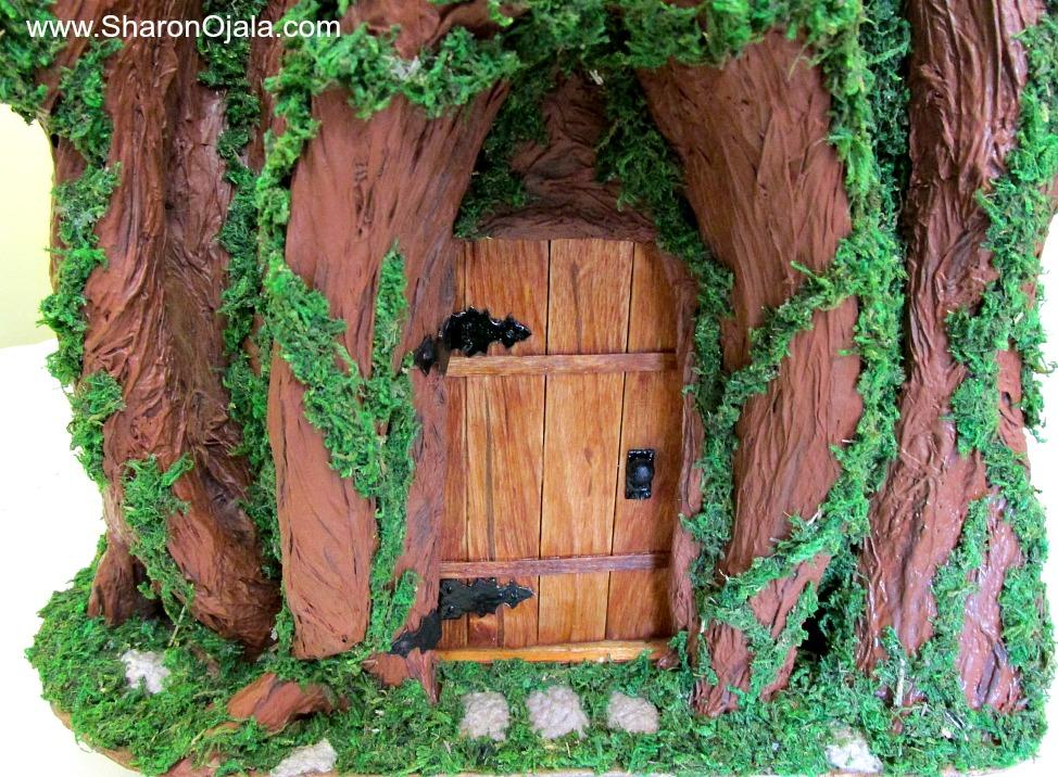 Gnome Tree Stump Home: Where The Gnomes Live : Tree Stump House Part Six Adding Vines