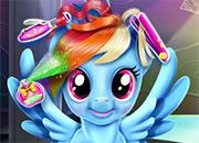 Raibow Dash corte cabello real juego