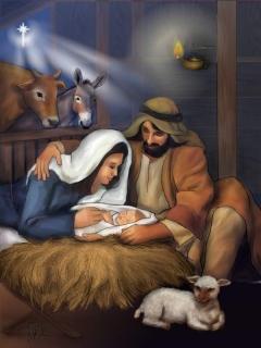 besplatne Božićne slike za mobitel 240x320 free download čestitke blagdani Merry Christmas Isus Krist jaslice