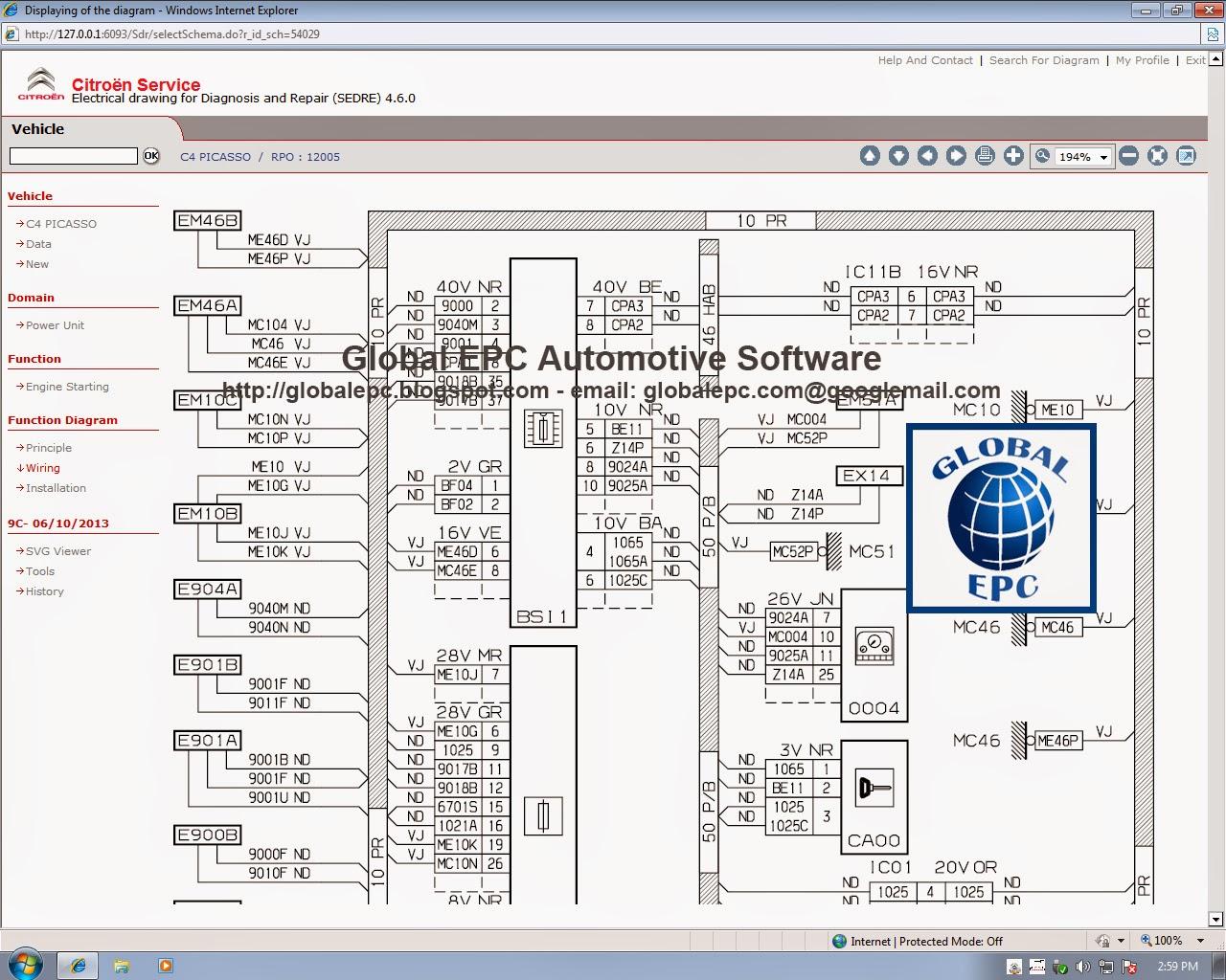 GLOBAL EPC AUTOMOTIVE SOFTWARE: CITROEN SERVICE BOX 11.2013 EPC ...