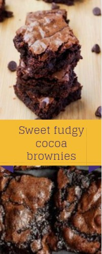 Sweet fudgy cocoa brownies