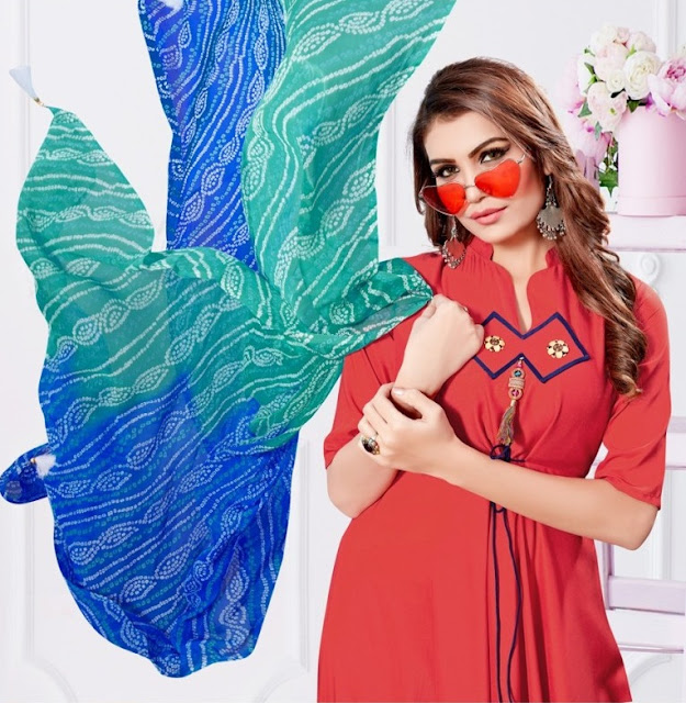 Manas Kiya vol 2 Party wear Kurtis With dupatta