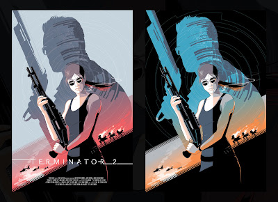 Terminator 2 Movie Poster Screen Print by Craig Drake x Hero Complex Gallery