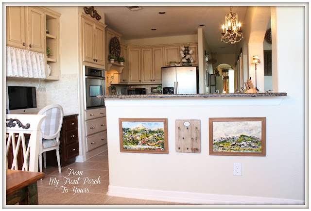 French Farmhouse kitchen-Autumn Haze Glidden Paint-Kitchen Makeover-DIY Kitchen-French Country-French Country Kitchen-From My Front Porch To Yours