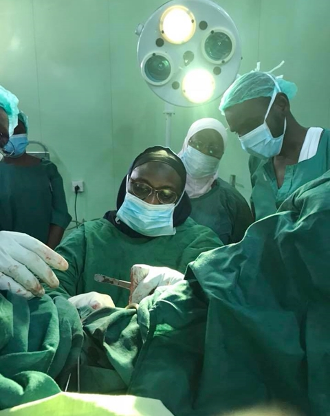 Governor's Wife Personally Performs VVF Surgeries (Photos)