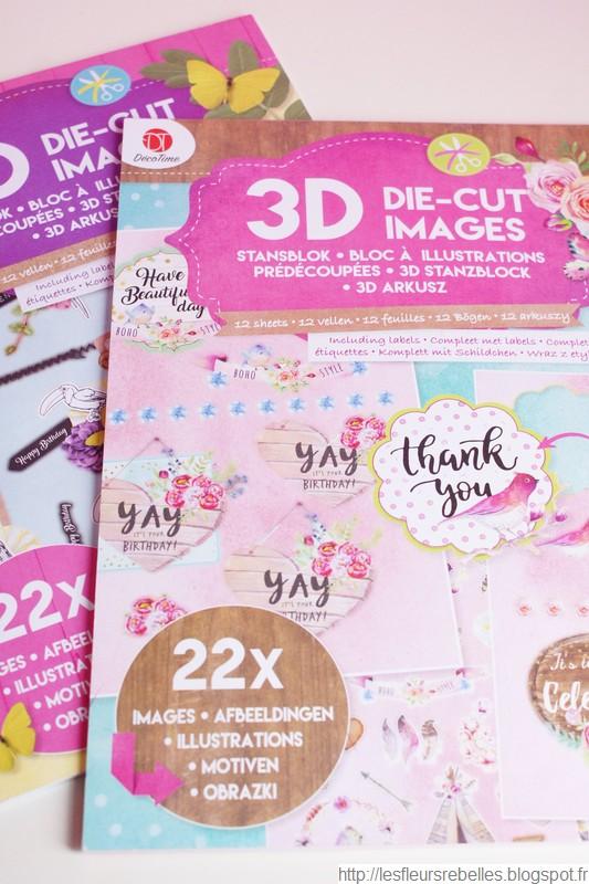 Blocs d'illustrations scrapbooking pour cartes, décorations