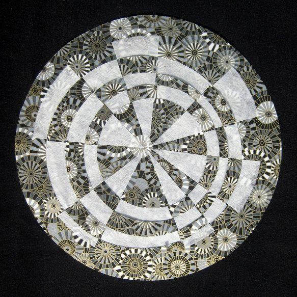 circular paper weaving