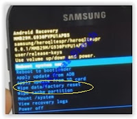 wipe data factory reset - samsung galaxy s7