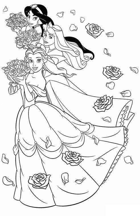 Tranh tô màu công chúa 18