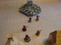 Alea Tools markers in use during a quick skirmish