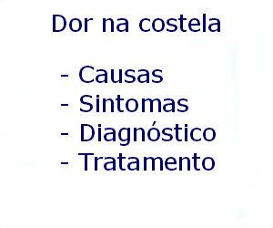 Dor na costela causas sintomas diagnóstico tratamento prevenção riscos complicações
