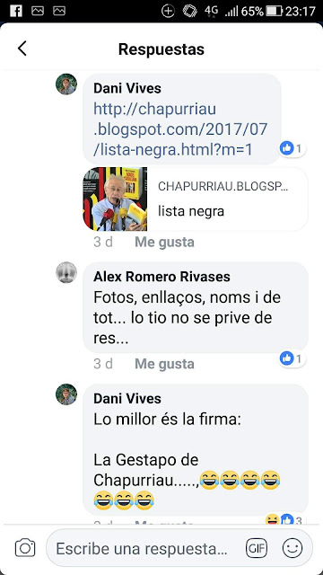 Dani Vives Albesa , a Fondespala se diu fins i tot ? No, pero a Cataluña, aon vius sí.