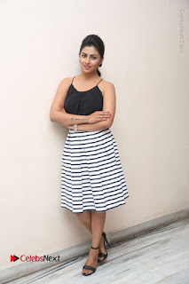 Telugu Actress Kruthika Jayakumar Stills in Short Dress at Intlo Deyyam Nakem Bhayam Success Meet  0249.JPG