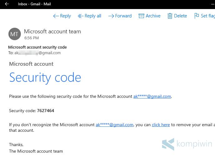 Cara Verifikasi Akun Microsoft di Windows 10 3