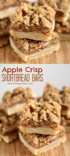 Apple Crísp Shortbread Bars