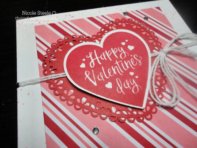 Clean and Simple Valentine's Day card using Heartfelt stamp set