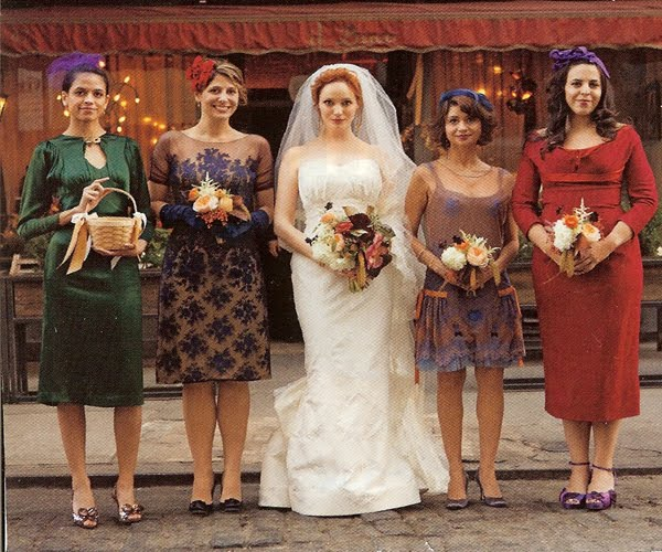 Funky Wedding Gowns: Events By Heather Ham: Trend: Mismatched Bridesmaid Dresses