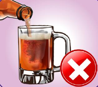 Minum minuman bersoda, beralkohol, dan jamu