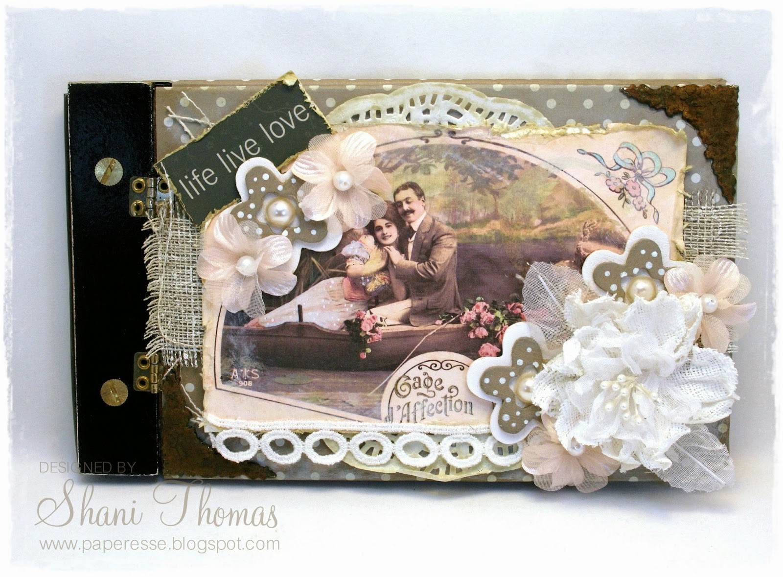 Shabby Look Paperesse Altered Photo Album With Vintage Shabby Look