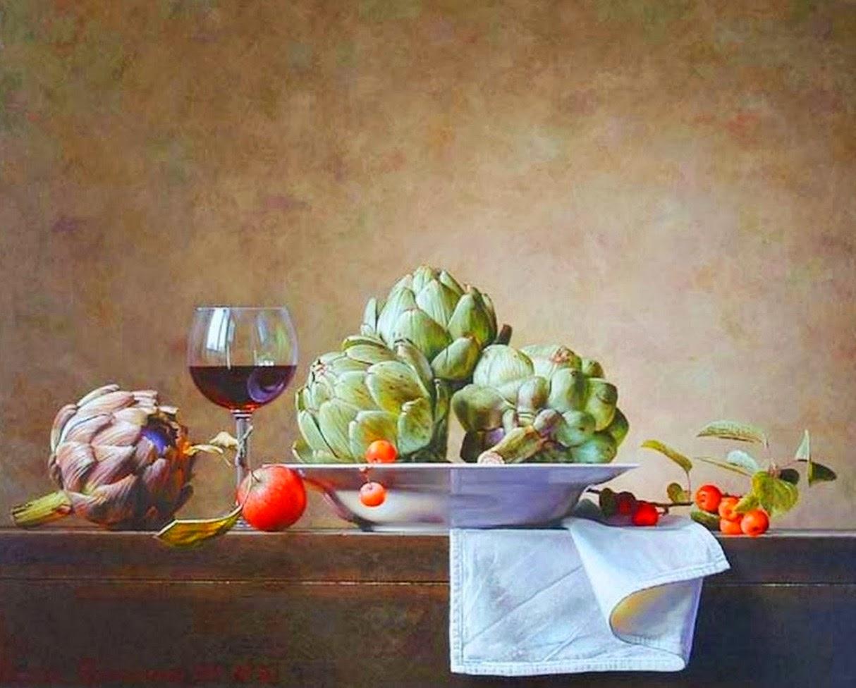 Cuadros modernos pinturas y dibujos bodegones de frutas for Cuadros pintados al oleo