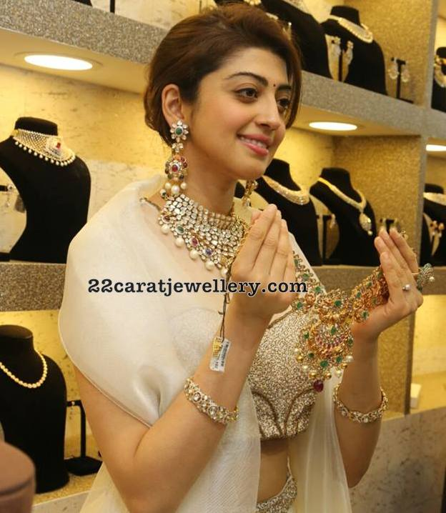 Pranitha Showcasing Neelkanth Jewellers Designs