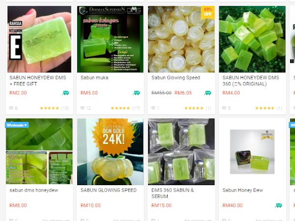 Review Sabun Honeydew DMS 360 dan Super Stemcell Tiruan di Shopee