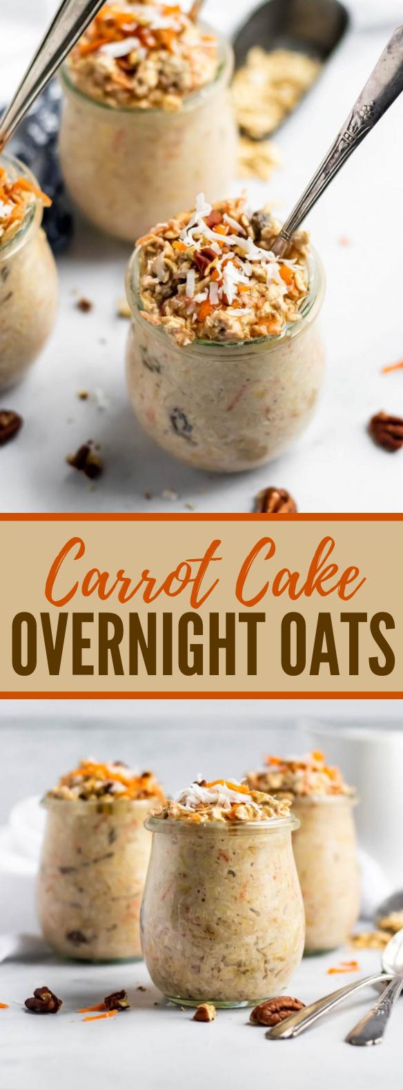 CARROT CAKE OVERNIGHT OATS #healthy #breakfast