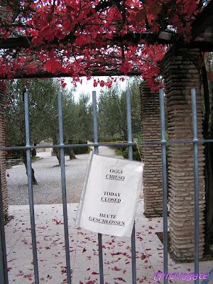 Grotte Catullo Sirmoione chiuse
