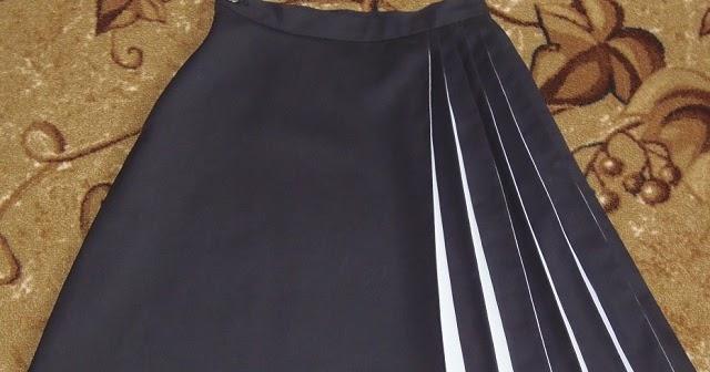 Пошив юбки А-силуэта со складками