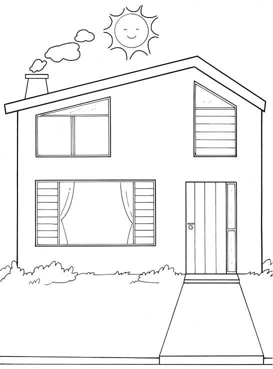 Casa Moderna Para Dibujar Dibujo De Casa Del Libro Para Colorear