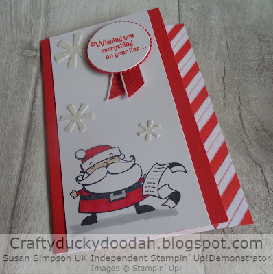 Craftyduckydoodah!, Stampin' Up! UK Independent  Demonstrator Susan Simpson, Signs of Santa, Supplies available 24/7 from my online store,