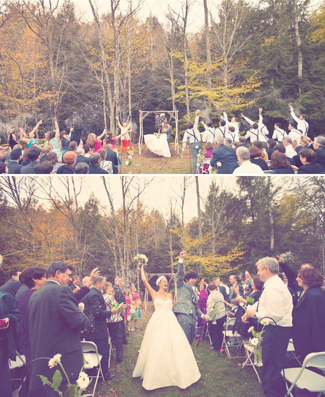 mariage boheme arc en ciel ceremonie portique
