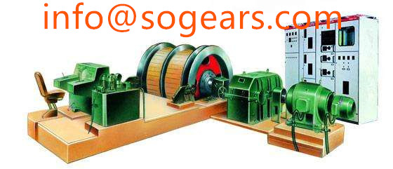 Parallel shafts triple reduction gearbox with electric motor