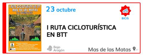 I Ruta Cicloturística en BTT en el Mas de las Matas