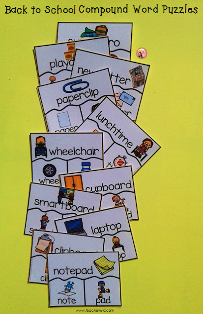 Back to School Compound Word Activities