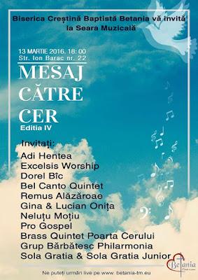 Mesaj Catre Cer - Seara muzicala la Betania Timisoara (13 martie 2016)
