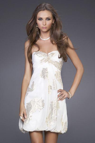 vestido de moda estampado blanco
