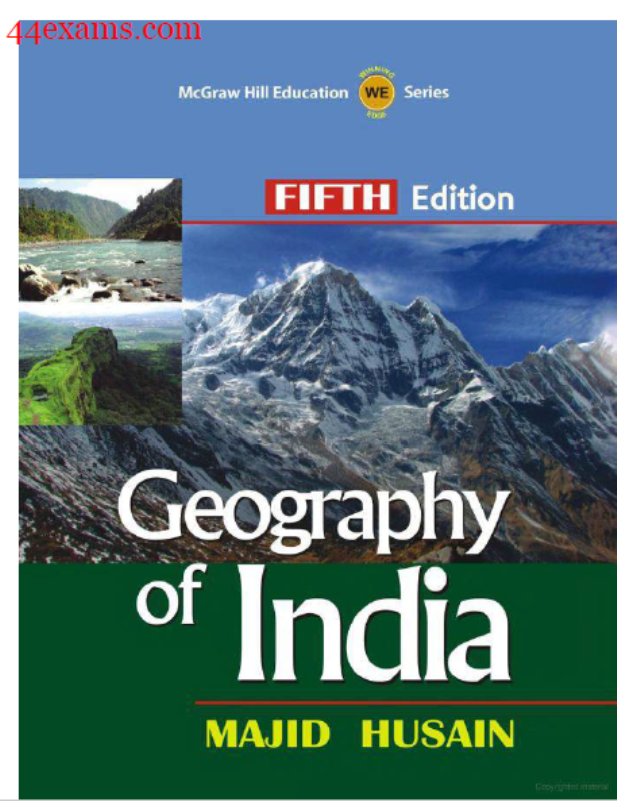 Geography of India By Majid Husain : For UPSC Exam PDF Book