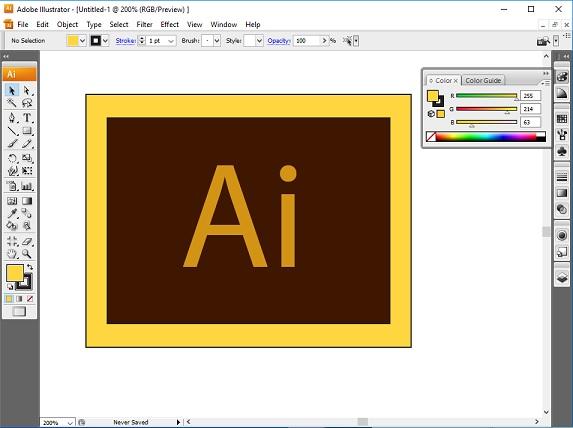 Area Kerja Adobe Illustrator