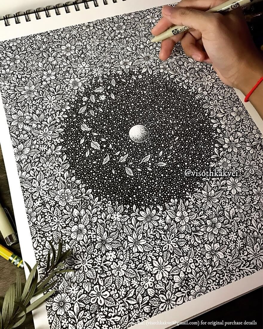 03-Earth-towards-the-Moon-Visoth-Kakvei-visothkakvei-Intricate-and-Ornate-Black-and-White-Drawings-www-designstack-co