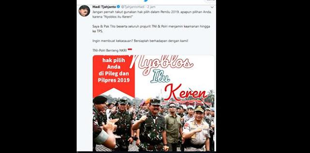 Wasekjen Demokrat: Panglima TNI, Saya Anjurkan Anda Menahan Diri