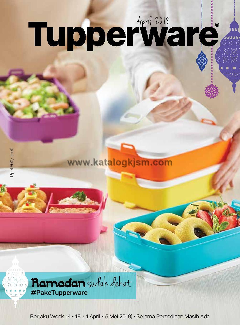 Katalog Promo Tupperware Terbaru April 2018