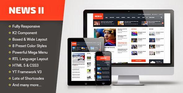 News II - Responsive News Magazine Joomla Template