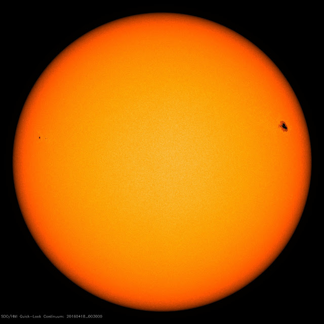 solar flare black spot