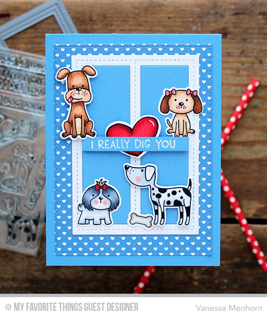Handmade card by Vanessa Menhorn featuring products from My Favorite Things #mftstamps