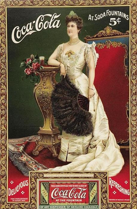 """Cartoline """"Vintage"""" 1%2Bcoca-cola-1904"""