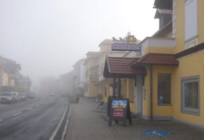 Wednesday morning fog driving to Post Inn