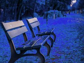 公園のベンチ(素材)