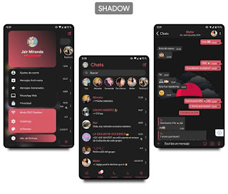Black Red Theme For Fouad WhatsApp & YOWhatsApp by Shadow